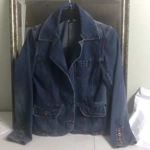 Anage too fitted denim jean jacket Sz S
